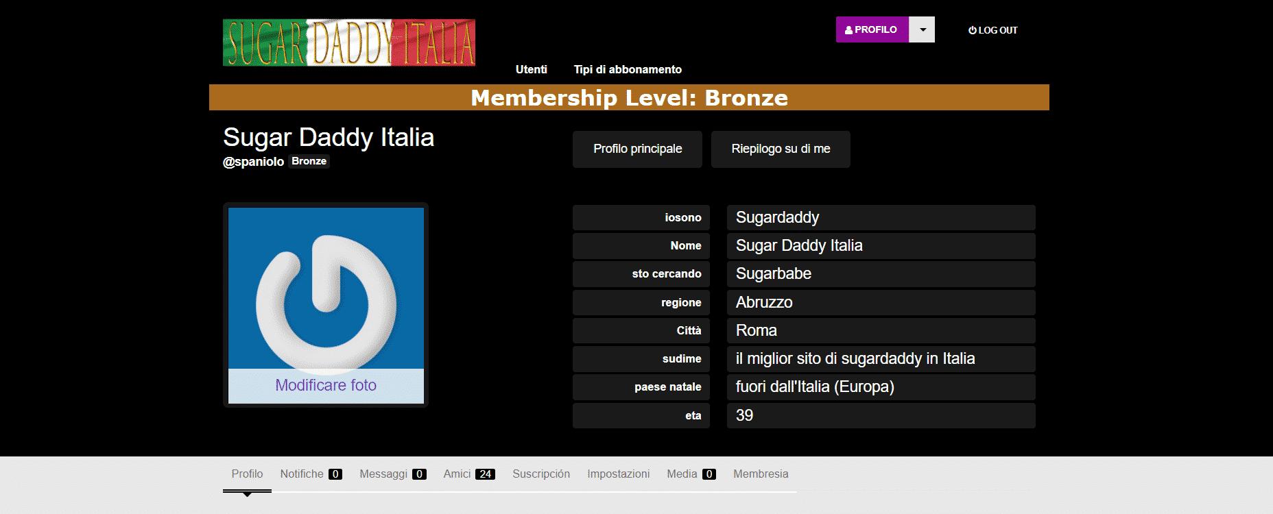 home page mettere come mettere l'immagine del profilo sulla piattaforma sugar daddy italia.